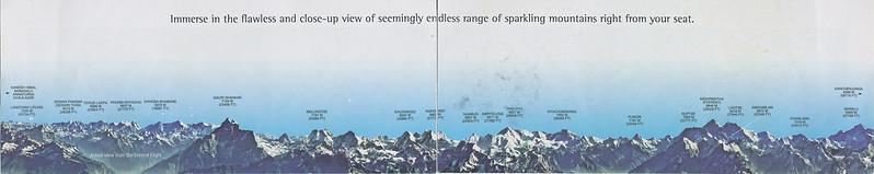 遊覧飛行での山の名前