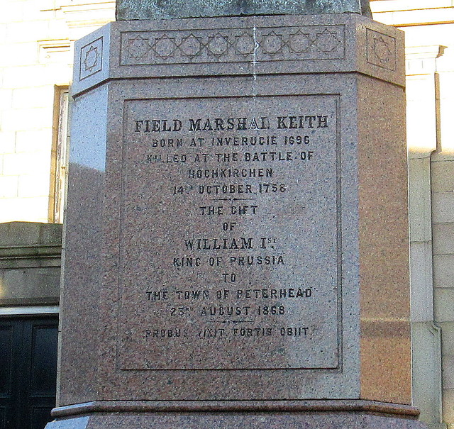 Field Marshal Keith Monument Inscription