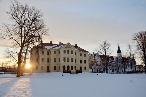 Sonnenaufgang hinter dem Neuen Palais / Sunrise behind the