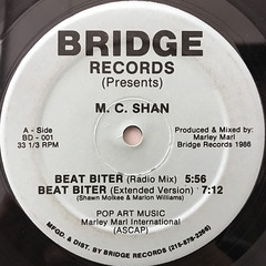M.C. SHAN:BEAT BITER(LABEL SIDE-A)