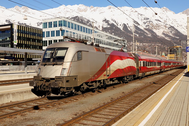 ÖBB 1116 249-4 RailJet Ski-WM, Innsbruck Hbf