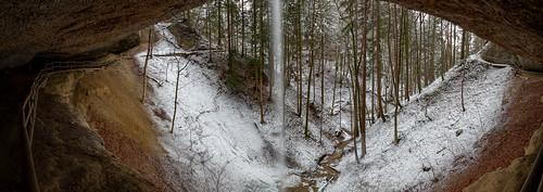 Winter Waterfall Panorama