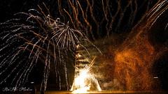 Firework with plenty of sparks