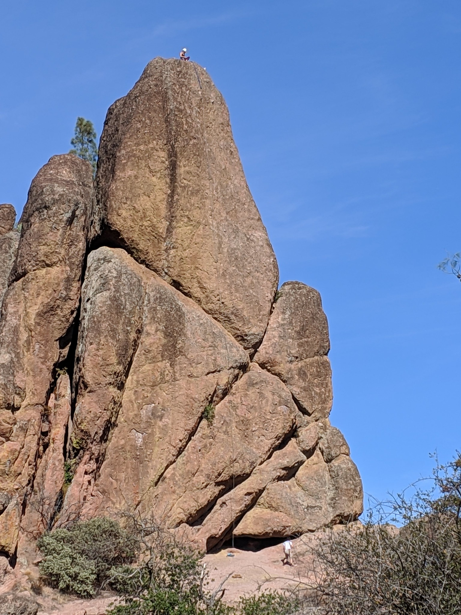 Rock climbers in Pinnacles National Park