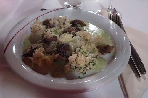 Reis mit Pilzen und Thymiansoße