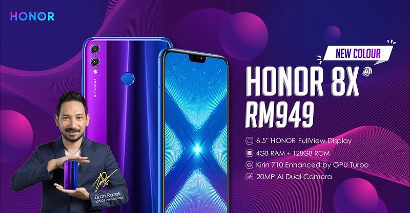 HONOR 8X Phantom Blue Revealed