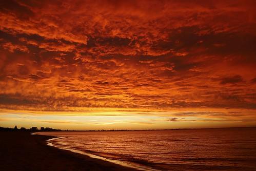 Sunset over Rockingham Beach, no photoshop
