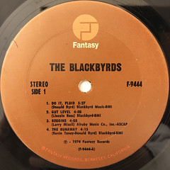 THE BLACKBYRDS:THE BLACKBYRDS(LABEL SIDE-A)