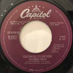GEORGE CLINTON:ATOMIC DOG(LABEL SIDE-B)