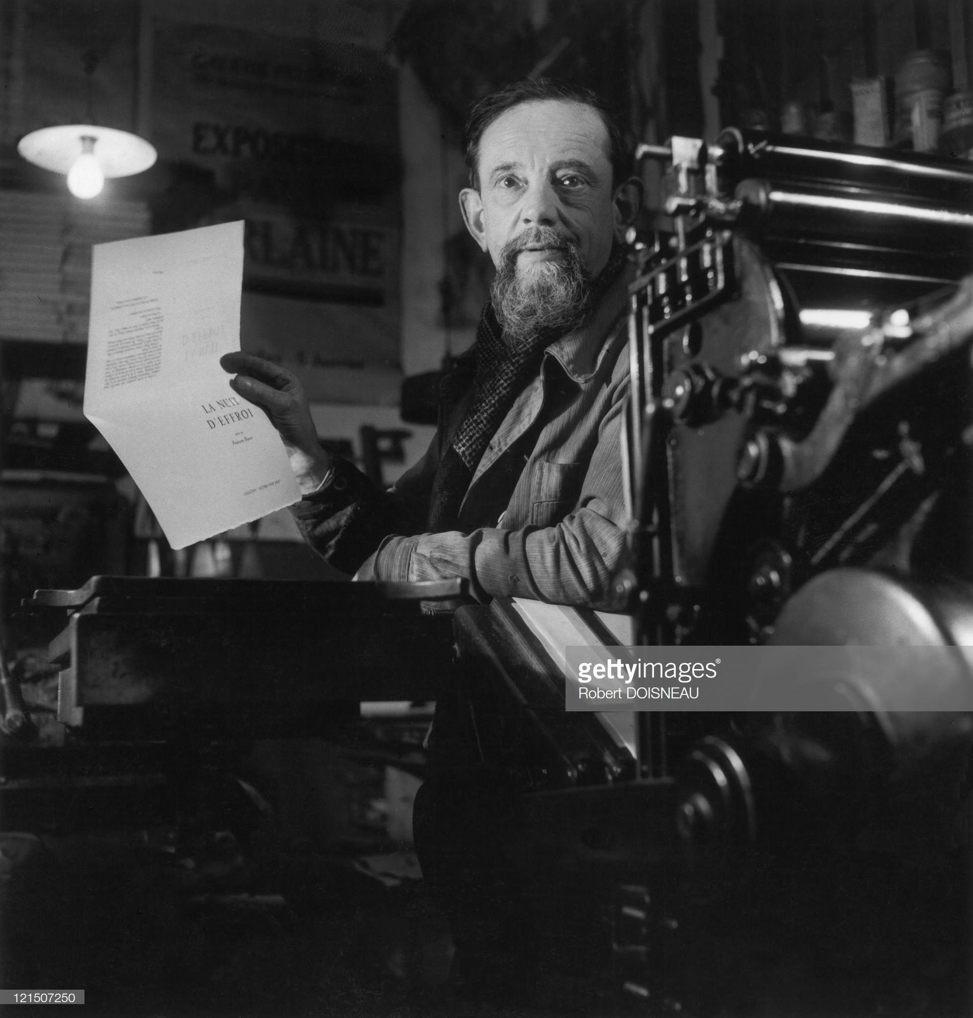 1944. Париж, Монпарнас, Харамбарт, печать брошюр для Национального освободительного движения
