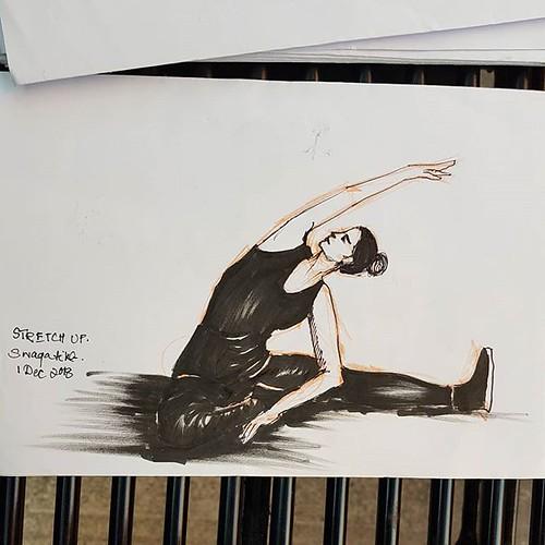 #stretch #stretchup #yogaposes #inktober2018 #inktober