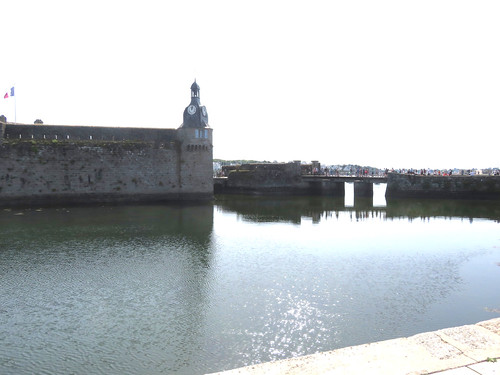 Concarneau. The old town. Ville close à l'embouchure du Moros.