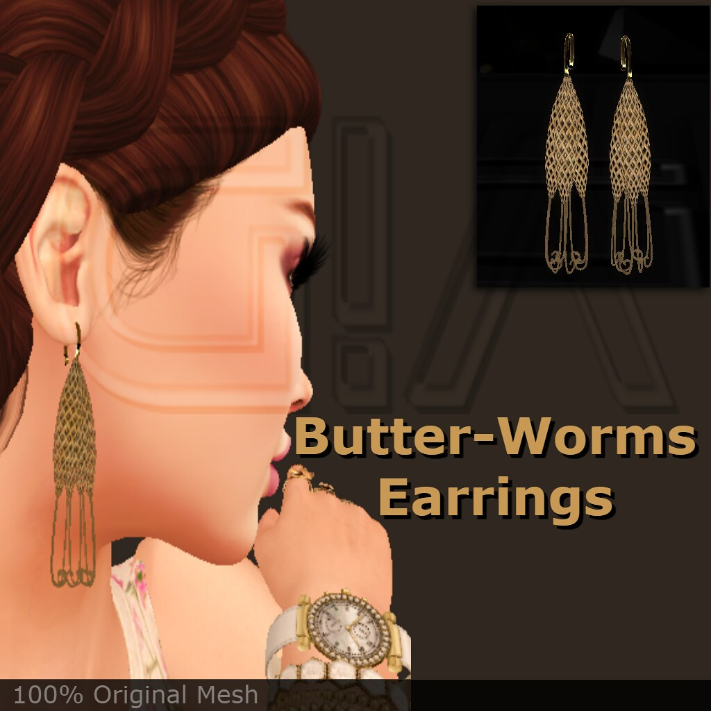 Butter-worms earrings vendor - TeleportHub.com Live!