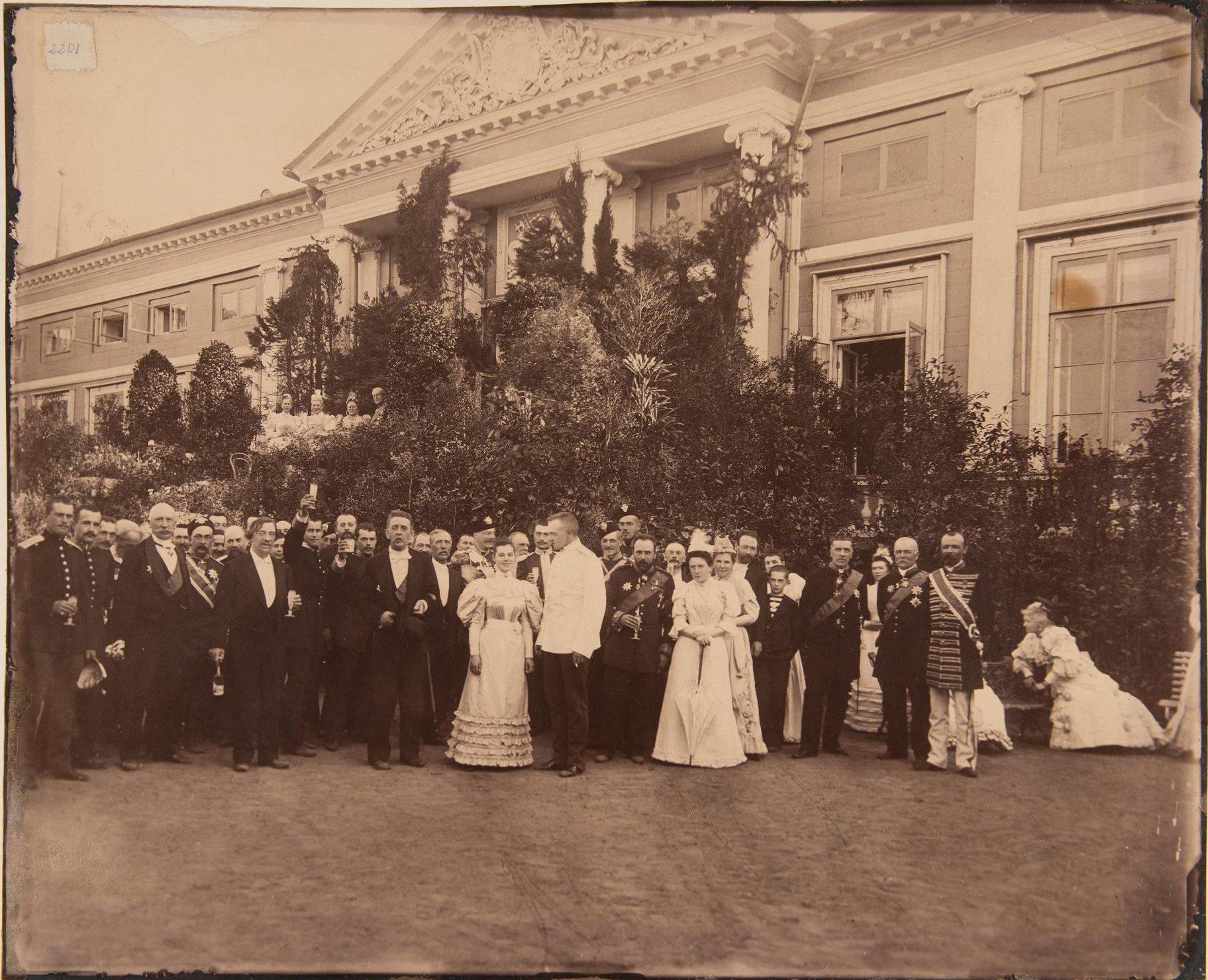 1894. Свадьба графини А.С. Шереметевой с А.П. Сабуровым в Кускове