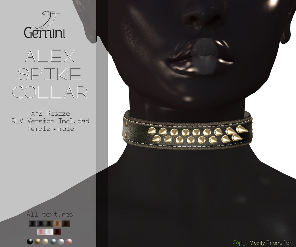 •Gemini -Alex Spike Collar- @ DUBAI EVENT, Jan Round•