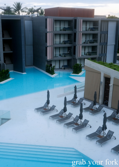 Pools and sunbeds at La Vela Hotel Resort in Khao Lak, Thailand