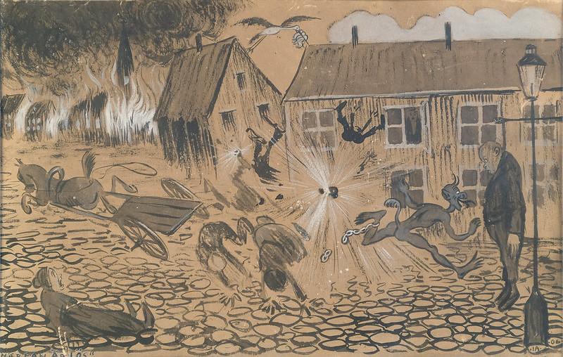 Ivar Arosenius - When The Beast Is Loose, 1906