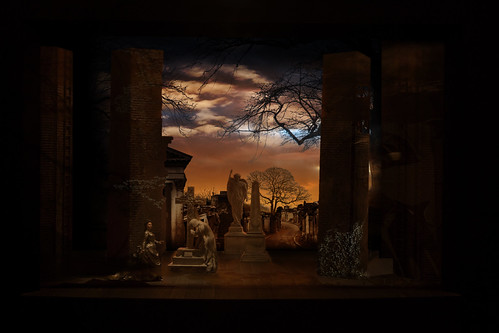 Set design: Graveyard. From Why You Need to See the Phantom of the Opera