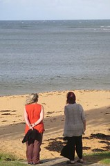 Marine Meditation - Chend & MamaCher contemplate a Nth Sydney beachscape - March 2015