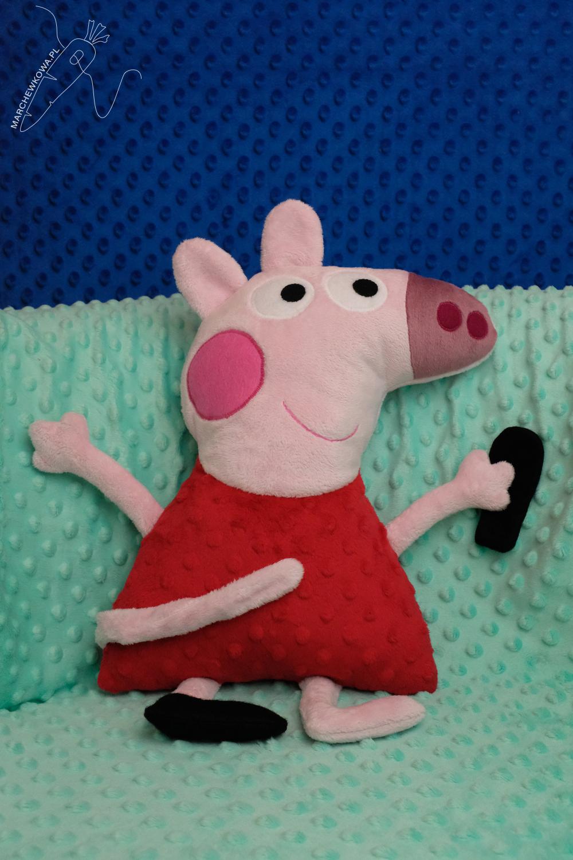 marchewkowa, marchewa, marchewka, blog, szycie, sewing, rękodzieło, handmade, Wrocław szyje, zabawki, toys, dla dzieci, for kids, Peppa Pig, świnka, minky, plusz