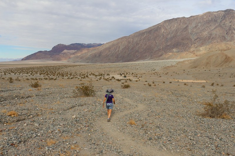 The final hike back to the car from Sidewinder Canyon in Death Valley