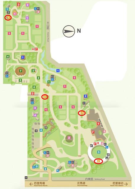 台中花博 后里 森林園區地圖
