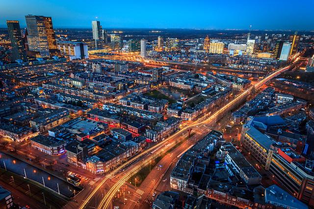 The Hague long exposure at night
