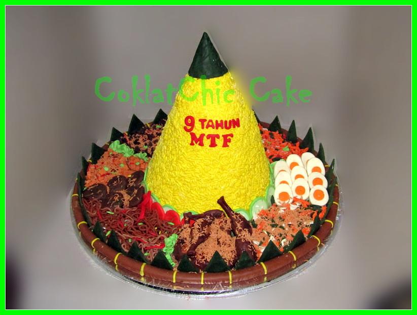 Cake Tumpeng Nasi Kuning MTF 40 cm