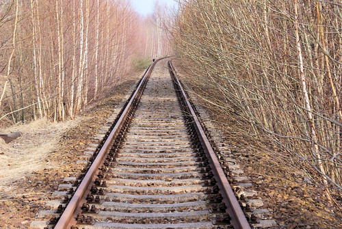Der einsame Schienenläufer März 2011