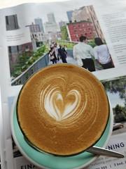 Strong caffe latte AUD4.70 - Merchants Guild, East Bentleigh - New York High Line Park in Domain magazine