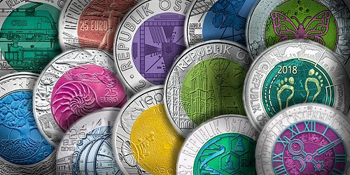 niobium Austria Mint Euro coins
