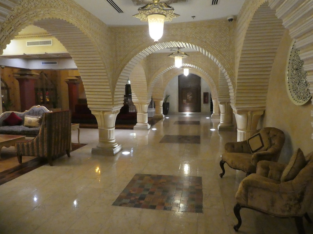 Opulent interiors at the Souq Waqif Boutique Hotel, Doha