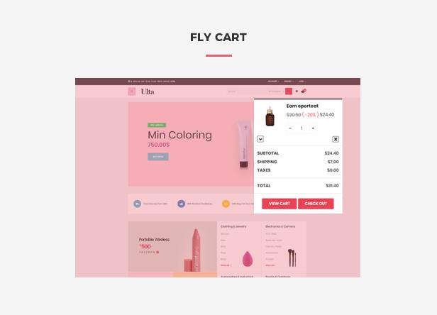 Ap Ulta Premium Beauty & Cosmetics Prestashop Skin Care Themes - Flying ajax cart