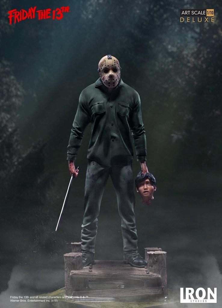 提著一顆頭實在是嚇死人~ Iron Studios《十三號星期五系列》傑森·沃爾希斯 豪華版 Jason Voorhees Deluxe 1/10 比例全身雕像作品