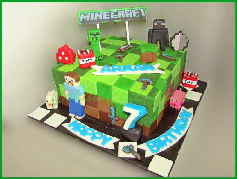Cake Minecraft ARKAN 18 cm