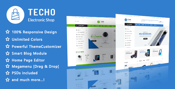 Techo v1.1 - Minimalist Shopping Electronics Responsive PrestaShop 1.7 Theme