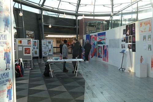 Bild och formtreornas Examensutställning i Spiralens glaskupol