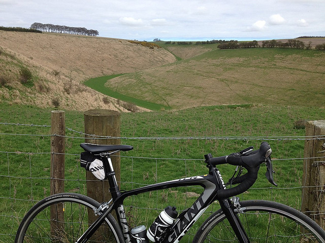 Burdale - Yorkshire Wolds Cycle Hill Climbs having a rest