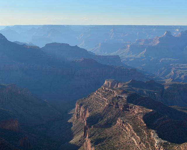 Vistas del Gran Cañón desde el mirador Pima de la Costa Oeste