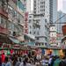 Marché dans les rues de Hong Kong