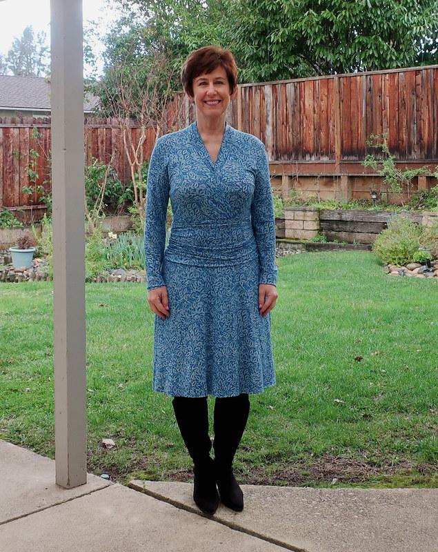 Burda jersey teal dress 4