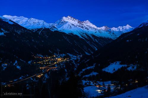 Le Val d'Anniviers et Ayer à l'heure bleue (Switzerland)