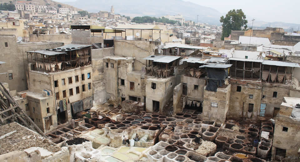 Fez Morocco, what to see? Tanneries Fez Morocco | Mooistestedentrips.nl