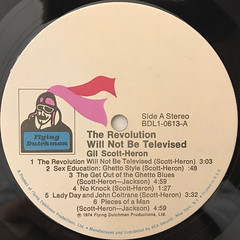 GIL SCOTT-HERON:THE REVOLUTON WILL NOT BE TELEVISED(LABEL SIDE-A)