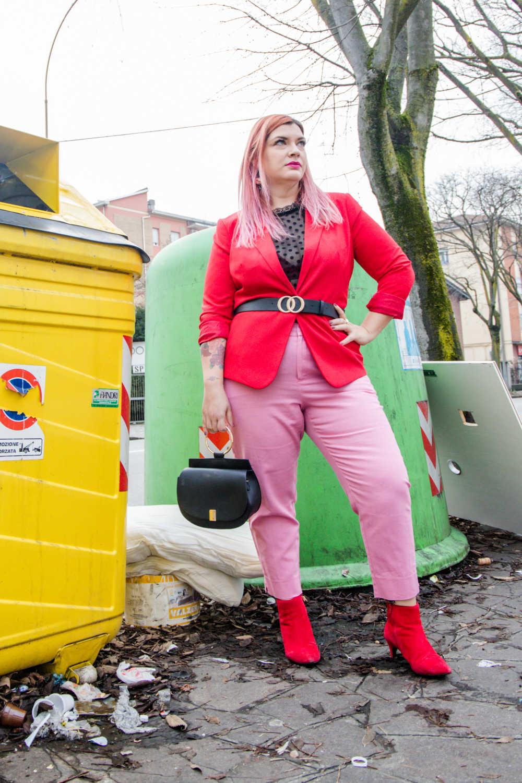 Outfit curvy e plus size, rosso e rosa per San Valentino (4)