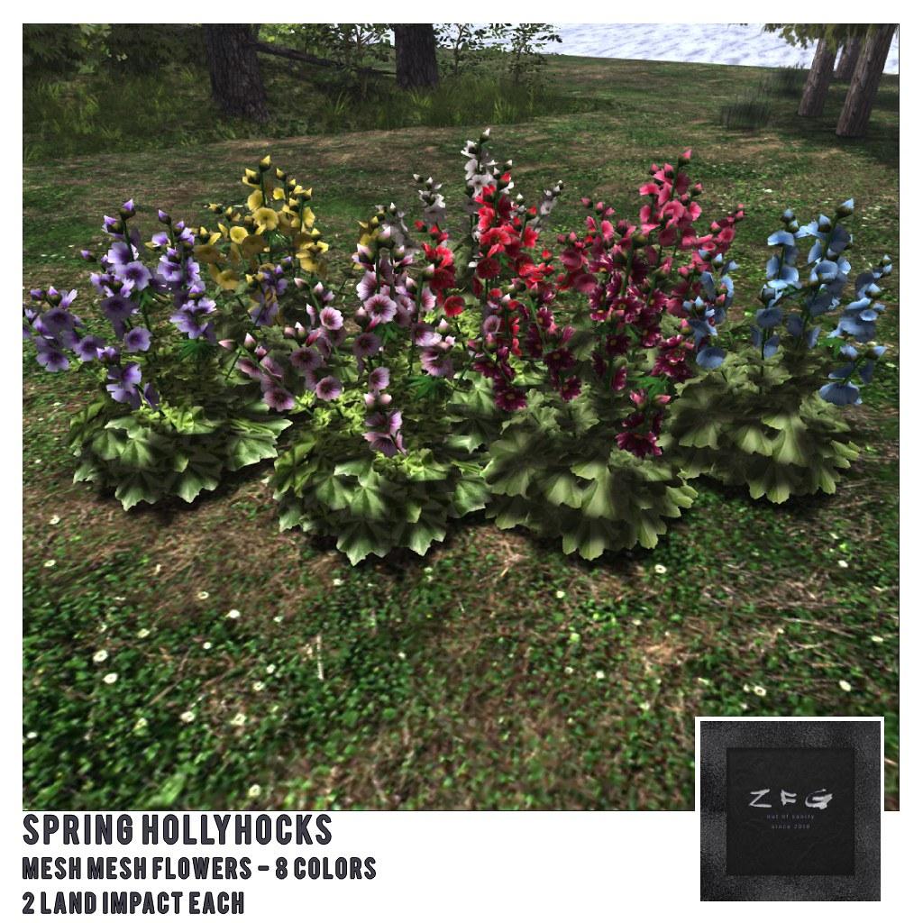 {zfg} home spring hollyhocks - TeleportHub.com Live!