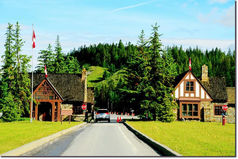 Entry station for Banff National Park