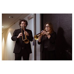 Ingrid and Florian . #xt3 #fujixt3 #fujifilmxt3 #fujifeed #fujifilm #fujilove #myfujilove #fujifilm_xseries #fujifilmnordic #fujifilmme #fujifilm_uk #fujixfam #twitter #geoffroyschied #35mmofmusic #trumpet #musician #backstage #behindthescenes #cold #warm