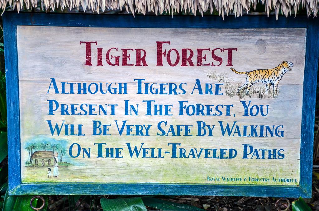 Tiger sign Maharajah Jungle Trek AK