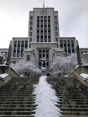 Vancouver City Hall in winter